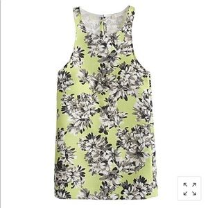 JCrew Collection Racer Tank in Photo Floral, sz 6